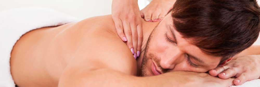 European Massage Clinic male skin shoulder hands masseuse